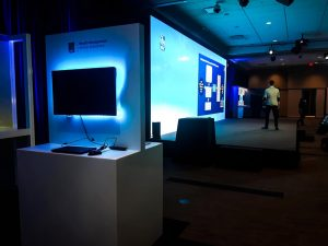 A view of the LED screen for Royal Bank of Canada's Investor Day Activation