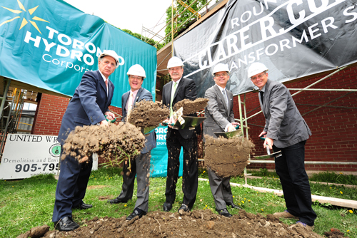 This is an image from Toronto Hydro's breaking ground event